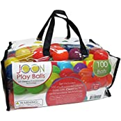 JOON Kids Fun Antimicrobial Play Balls With Cleantec Antimicrobial Technology And Durable Storage Bag 6 Bright...