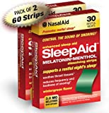 SleepAid Melatonin with Menthol Dissolving Strips, 30-Count Boxes (Pack of 2)