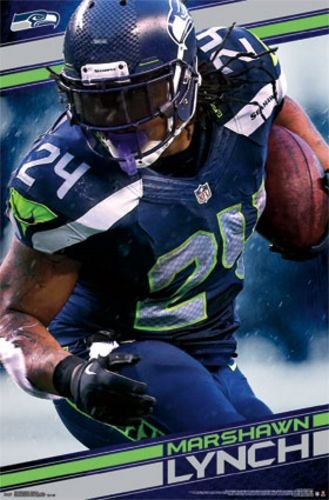 "Marshawn Lynch - Seattle Seahawks NFL 2014 22""x34"" Art Print Poster"