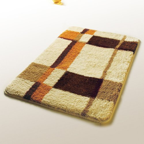 Naomi - [Checker] Wool Throw Rugs (17.7 by 25.6 inches)