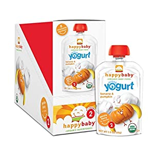 Happy Baby Organic Stage 2 Baby Food, Simple Combos, 3.5 Ounce Pouches, 8 count (Pack of 2) from [Maker]