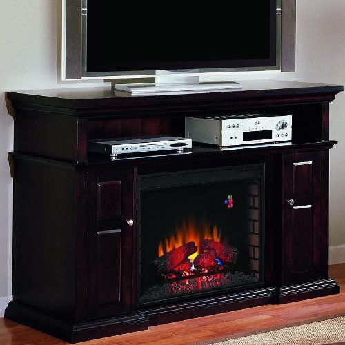 Pasadena 60 Inch Electric Fireplace Media Console Espresso 28mm468 Lowes Top Selling Products