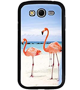 Printvisa Pair Of Flamingos In Love Back Case Cover for Samsung Galaxy Grand i9080:::Samsung Galaxy Grand i9082