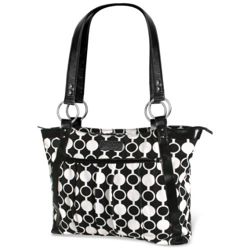 kailo-chic-casual-154-laptop-tote-black-and-white-mod-circles