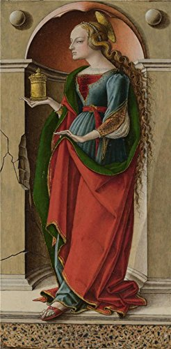 High Quality Polyster Canvas ,the Best Price Art Decorative Prints On Canvas Of Oil Painting 'Carlo Crivelli - Saint Mary Magdalene,about 1491-4', 30x61 Inch / 76x155 Cm Is Best For Nursery Decor And Home Gallery Art And Gifts