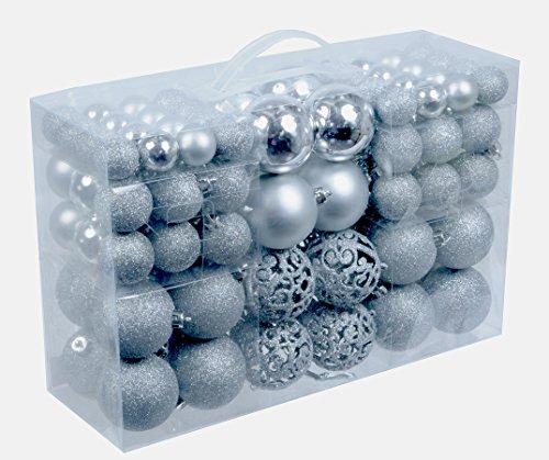 100-Weihnachtskugeln-Silber-glnzend-glitzernd-matt-Christbaumschmuck-bis--6-cm-Baumschmuck-Weihnachten-Deko-Anhnger