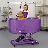 Master Equipment Poly Pro Lift Grooming Tub, Purple
