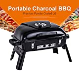 Pinty Portable Charcoal Grill Barbecue BBQ for Outdoor Use, 233 Square Inch