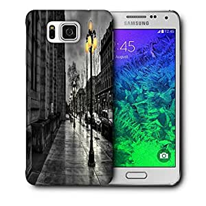 Snoogg Night At Street Printed Protective Phone Back Case Cover For Samsung Galaxy SAMSUNG GALAXY ALPHA