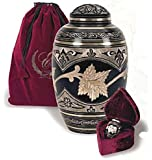 UrnConcern Severn Cremation Urn. A Hand Engraved Cremation Urn Manufactured From Solid Brass With Black Toledo finish. 3