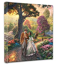 Thomas Kinkade Gone With the Wind 14x14 Gallery Canvas Wrap