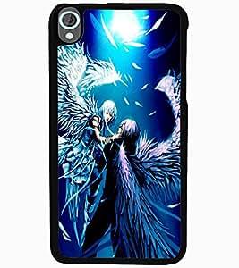 ColourCraft Angels Couple Design Back Case Cover for HTC DESIRE 820