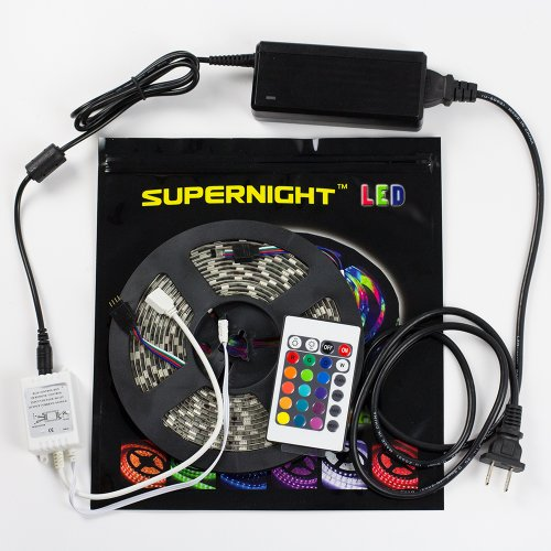 Supernight (Tm) 5050 Rgb Led Strip Lighting Tv Wall Backlighting Display Case Lighting Club Lights Bar Top Lighting 24Keys Remote Controller Power Supply Adapter Motorcycle Car Lighting