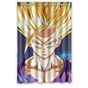 Anime cartoon dragon ball z goku bathroom fabric bath for Dragon ball z bathroom