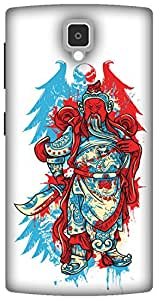 The Racoon Lean The Angry Monk hard plastic printed back case/cover for Lenovo A1000