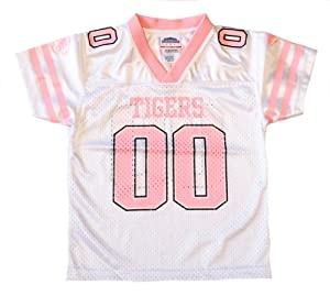 Officially Licensed NCAA Missouri Mizzou Tigers Girls Pink and White Youth Jersey