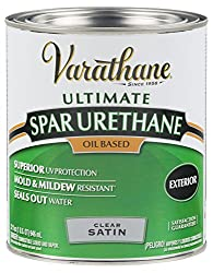 Rust-Oleum VARATHANE Oil-Based Spar Urethane for Exterior Furniture & Wood Polish, 946 ml, SATIN Finish