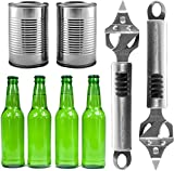 Bottle Opener and Can Opener Multitool by Natures Kitchen - Commercial Grade Stainless Steel