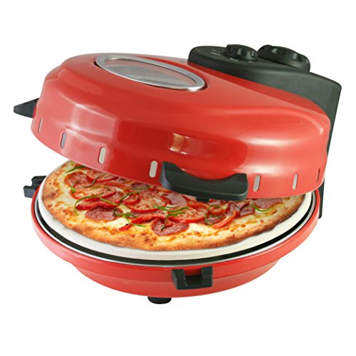Italian Stonebake Pizza Oven - Deep Pan Home Pizza Maker - Includes Pizza Cutter