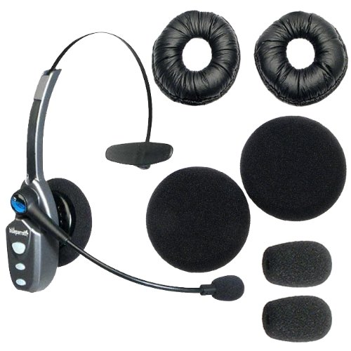 BlueParrott Roadwarrior B250-XT Bluetooth Wireless Headset for Cell Phones and Computers with Replacement Foam Cushions on sale