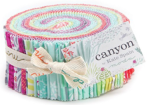 Canyon by Kate Spain Moda Jelly Roll, Set of 40 2.5x44-inch (6.4x112cm) Precut Cotton Fabric Strips Review