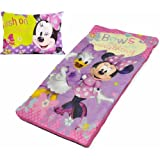 Disney Minnie Mouse Bowtique Slumber Set- Pillow and Sleeping Bag