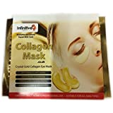 Infinitive Beauty - 10 x Pack New Crystal 24K Gold Powder Gel Collagen Eye Mask Masks Sheet Patch, Anti Ageing Aging, Remove Bags, Dark Circles & Puffiness, Skincare, Anti Wrinkle, Moisturising, Moisture, Hydrating, Uplifting, Whitening, Remove Blemishes & Blackheads Product. Firmer, Smoother, Tone, Regeneration Of Skin. Suitable For Home Use Hot or Cold.