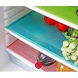 Kuber Industries™ Refrigerator Drawer Mat / Fridge Mat Set Of 6 Pcs (Multi)