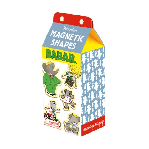 Mudpuppy Babar Wooden Magnetic Shapes