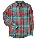 Polo Ralph Lauren Men's Custom Fit Madras Military Plaid Shirt