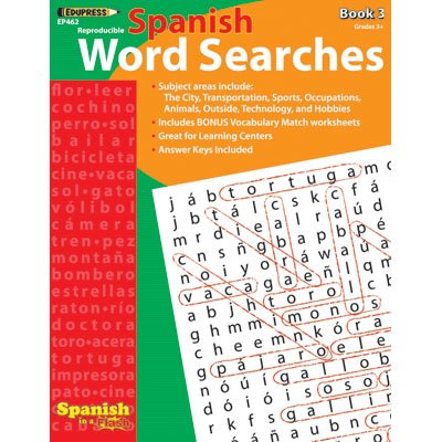 Edupress Spanish In A Flash Word Searches 3