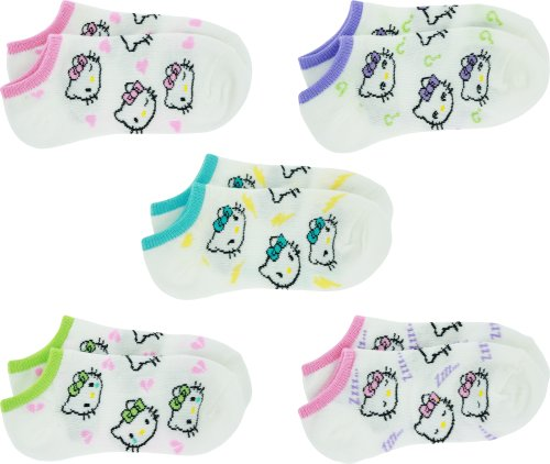 Hello-Kitty-All-Over-Girls-No-Show-Sock-Set