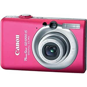 Canon PowerShot SD1200IS 10 MP Digital Camera with 3x Optical Image Stabilized Zoom and 2.5-inch LCD (Pink/Red)