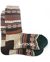 (ラソックス)rasox 靴下 ジャカードウール・クルー