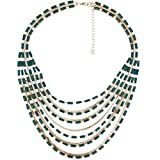 Super Drool Emerald Strings Necklace