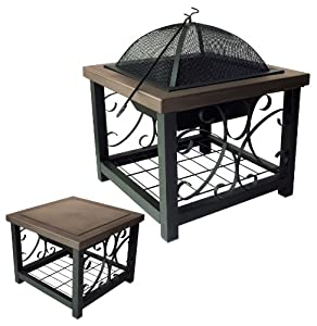 Fire Sense Old World Bronze Finish Cocktail Table Fire Pit (Discontinued by Manufacturer)