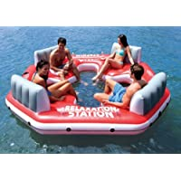 INTEX Pacific Paradise Relaxation Station 4-Person River Tube Raft (Red)