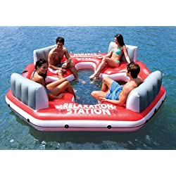 INTEX Pacific Paradise Relaxation Station 4-Person River Tube Raft