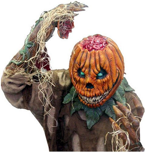 Evil Pumpkin Rot Gory Halloween Mask