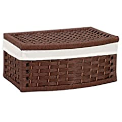 Household Essentials Curved Basket with Lid Lined