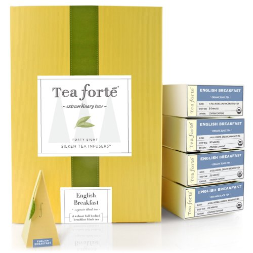 Tea Forte Event Box - 48 Silken Pyramid Infusers - English Breakfast