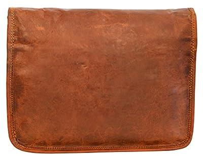 """Gusti Cuir nature """"Emilia 10"""" cartable en cuir sac notebook sac bandoulière sac porté épaule sacoche business homme femme cuir de chèvre marron H9"""