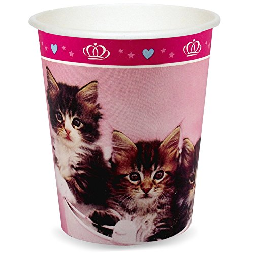 [Rachael Hale Glamour Cats Party Supplies - 9 oz. Cups (8)] (Hello Kitty Pinata Kit)