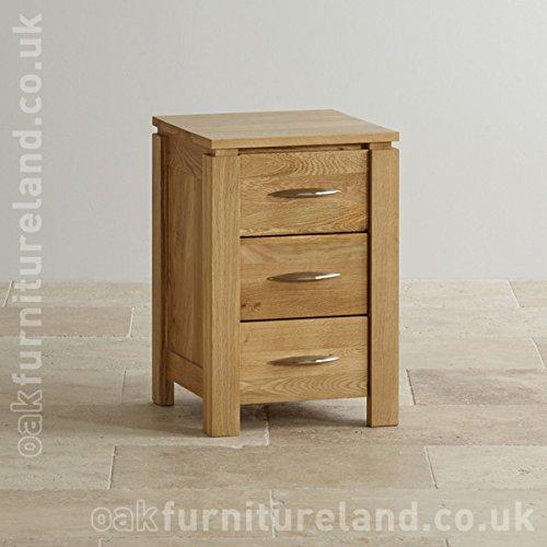 Cheap Galway Natural Solid Oak 3 Drawer Bedside Table Buy Bedside
