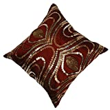 Mahalaxmi Furnishings Fantasy Cushion Cover (Color: Maroon , Size: 40 CM X 40 CM )