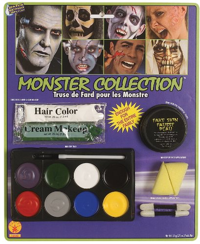 Rubie's Costume Complete Monster Makeup Kit, White, One Size
