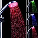 3 Color Changing RGB LED Shower Head Automatic Control Sprinkler