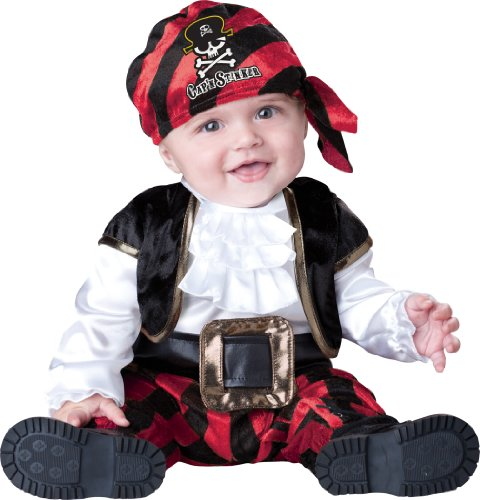 Incharacter Costumes, Llc Cap'N Stinker, Black/White/Red, Small front-990376