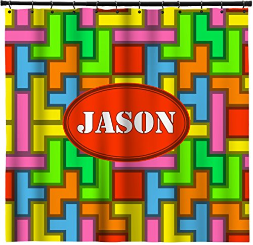 Tetris Print Shower Curtain (Personalized) - 69X70 front-816576