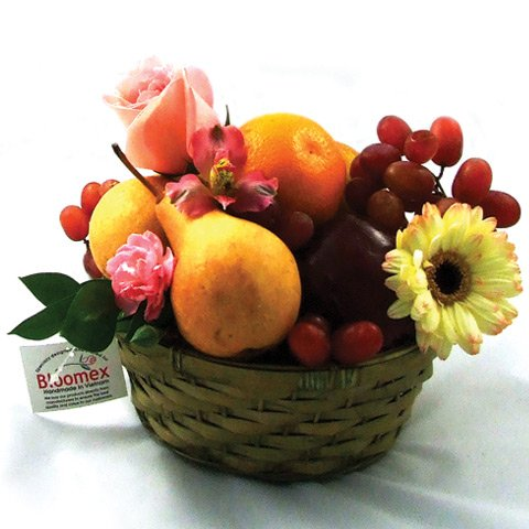 Fruits and Flowers Gourmet Gift Basket